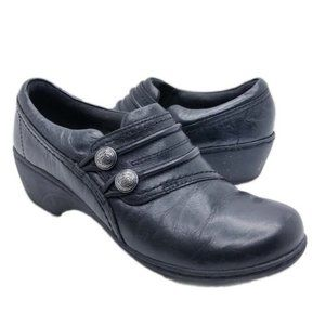 Clarks (6.5M) Channing Leary Faux Leather Clogs